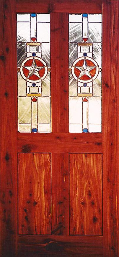 Double Star Door & Portfolio: Glass - Lone Buffalo Studio pezcame.com