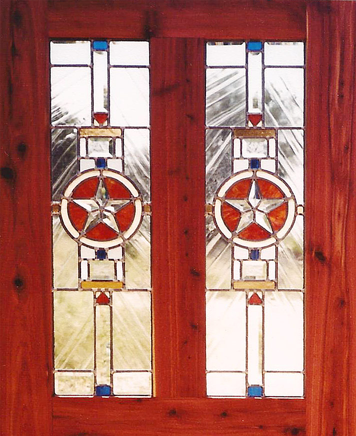 Double Star Door & Portfolio: Glass - Lone Buffalo Studio